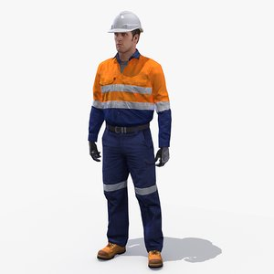 3d model safety worker rig