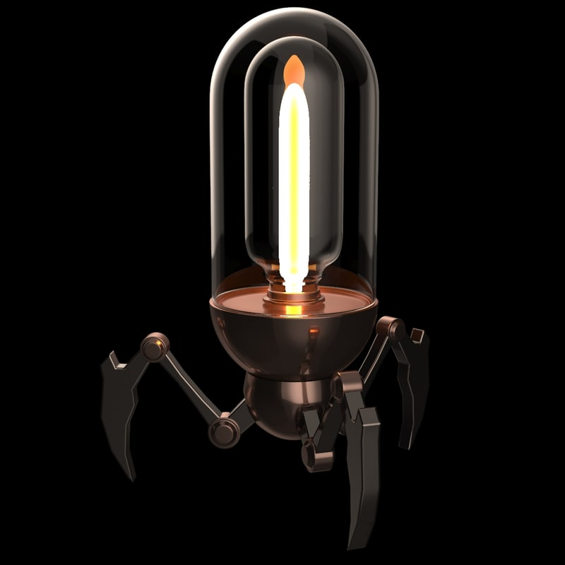 3d model set lamp steampunk