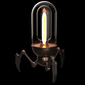 3d model set lamp steampunk