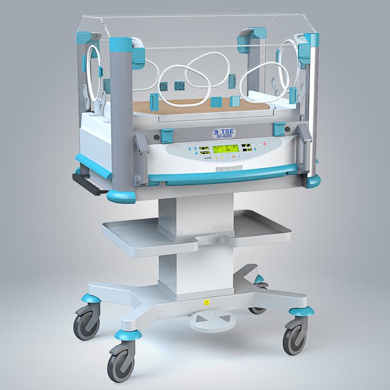 3d model of infant incubator si-600