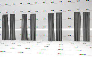 resolution linen curtains 3d c4d