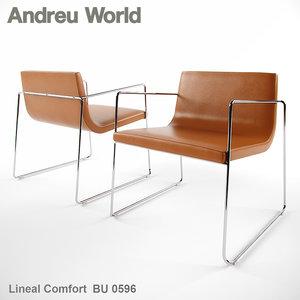andreu world lineal comfort 3ds