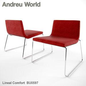 andreu world lineal comfort 3d model