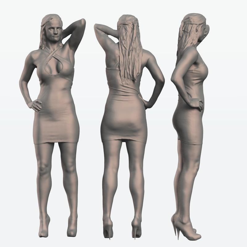 3d scan woman model