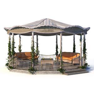 pergola garden 3d model
