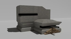 3d 3ds wwii german bunker