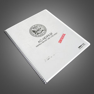 military notebook - ready 3d model