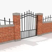 pack fencing 3d model