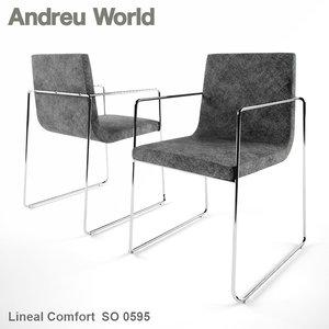 3d andreu world lineal comfort model