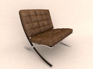 skin armchair chair 3ds
