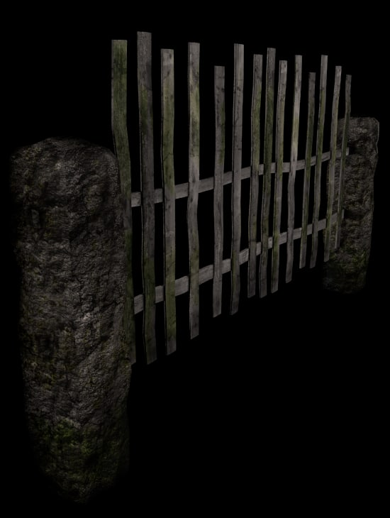 3ds max old fence