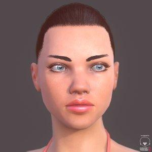 3d model woman unity udk