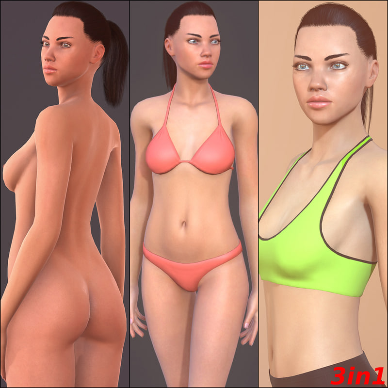 woman characters unity 3d max