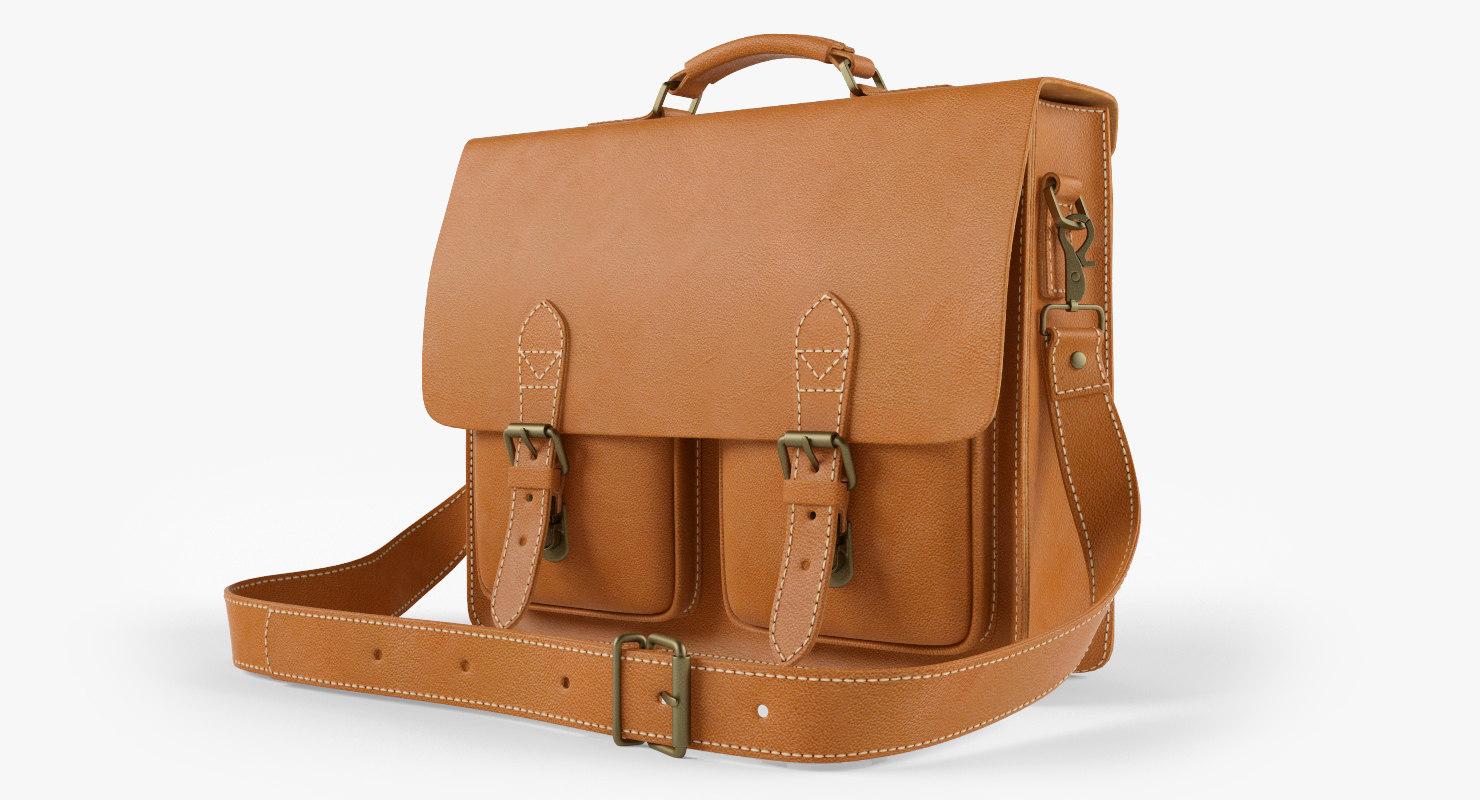 3d leather bag model