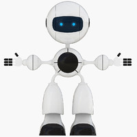 3d model robot robo bot