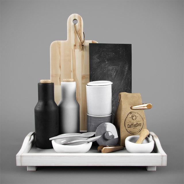 decorative kitchen set 3d max