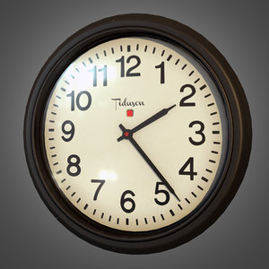 office wall clock - 3d model