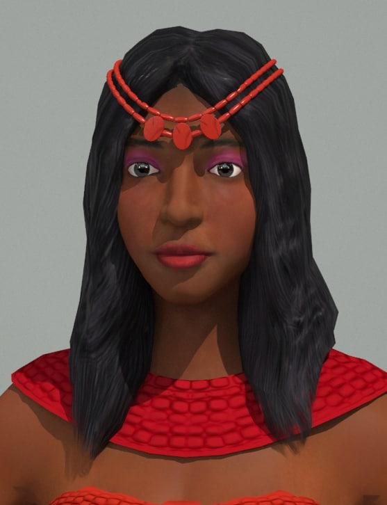 african princess 3d model