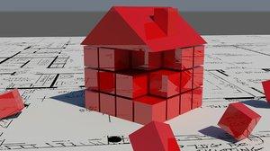 logo building 3d model