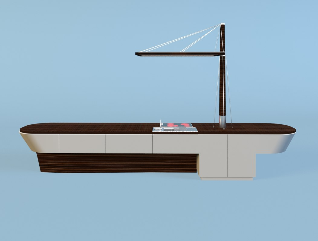 ship kitchen 3d max