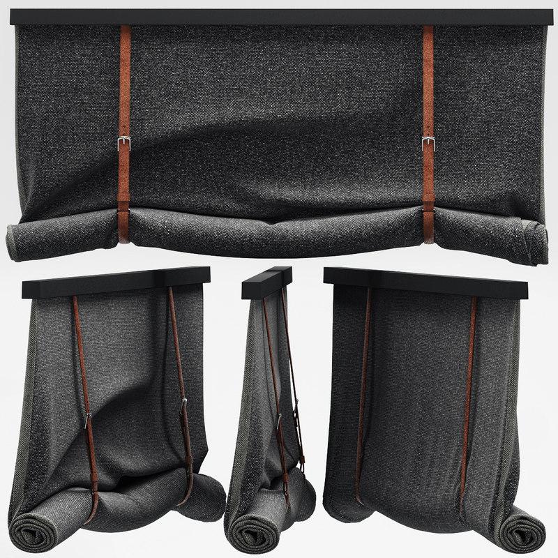 3d model blinds leather