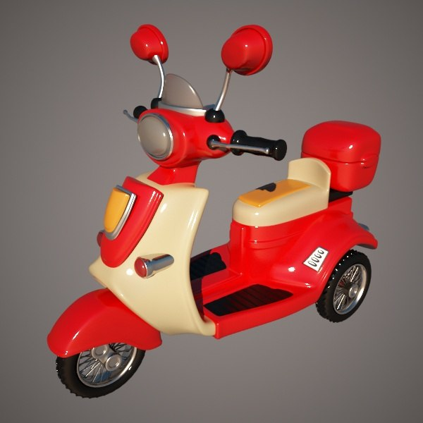 motorcycle cycle 3d model