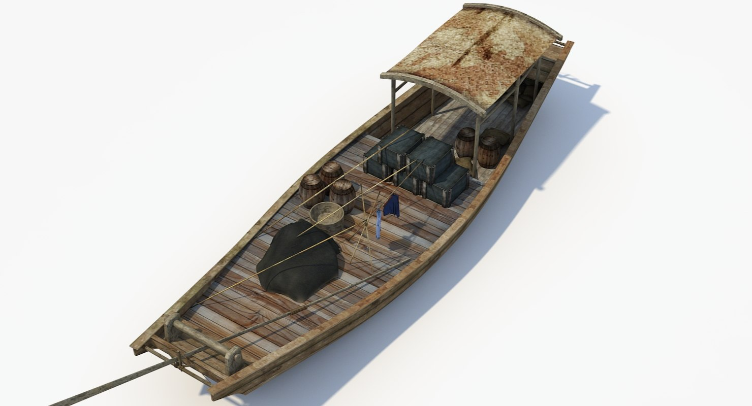 3d chinese boat 4 model