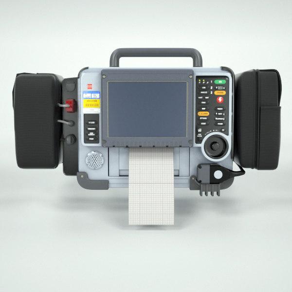 defibrillator 3d model