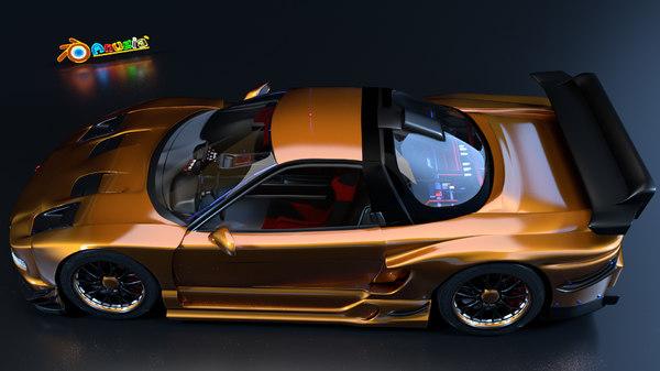 3ds max honda nsx jgtc modelling