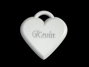 heart necklace 3d 3ds