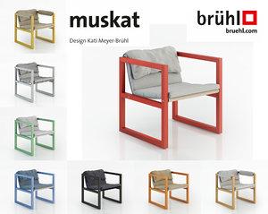 3d muskat chair model