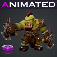 3d orc berserker fantasy model