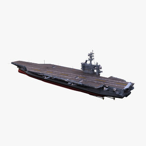 3d uss carl vinson aircraft carrier model