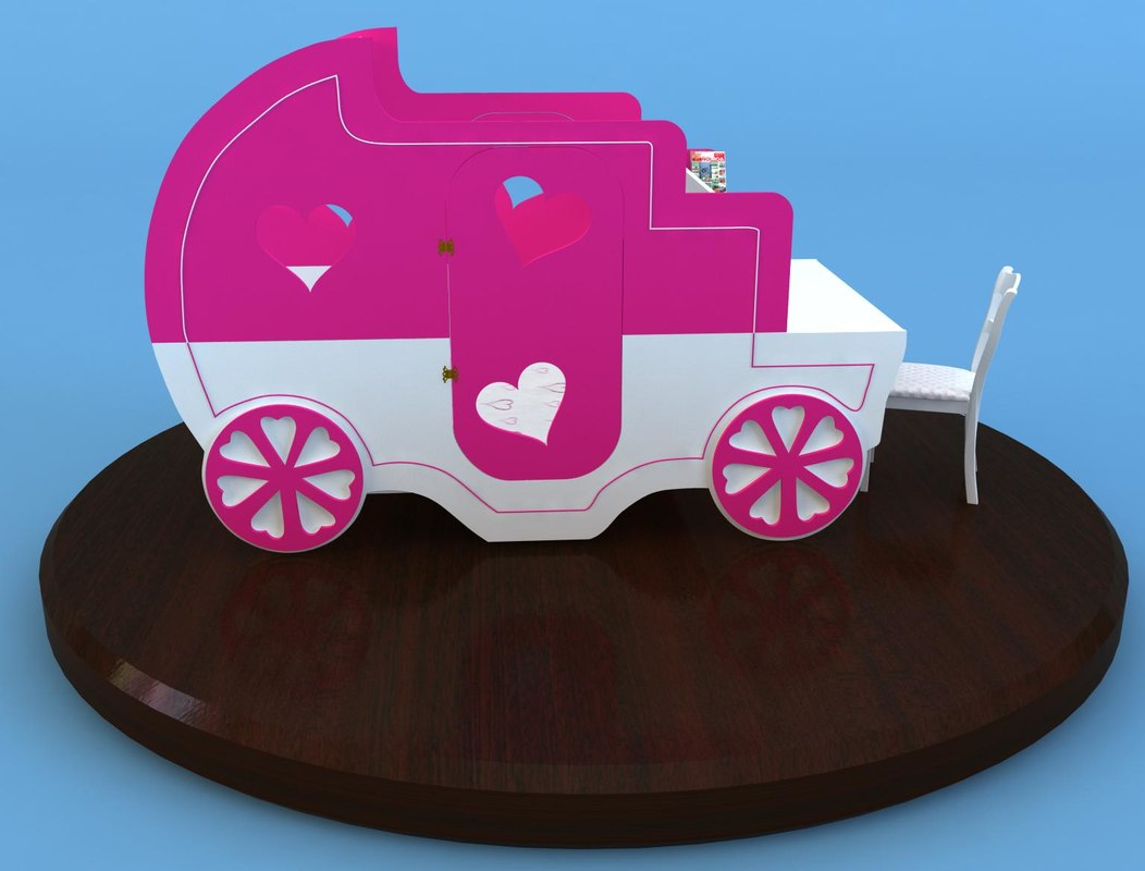 3d model of carriage bed