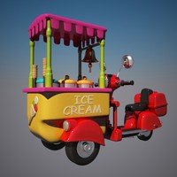 3d icecream bike toon