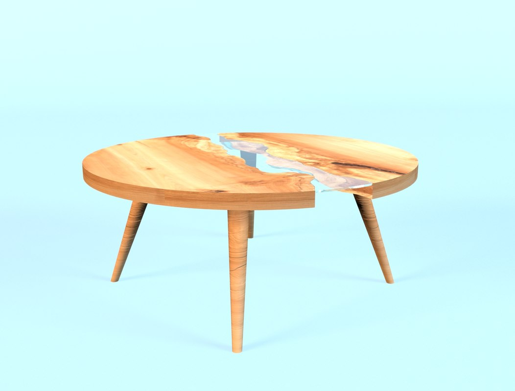 3d nelson river coffeetable model