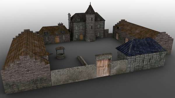 3d manor farm model