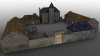 3d manor farm model