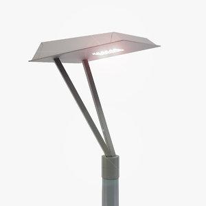c4d rosa mira street lamp