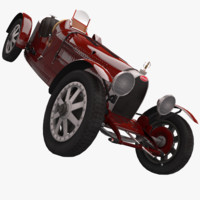 bugatti type 35 1925 3d model