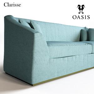 3d model fabrics sofa