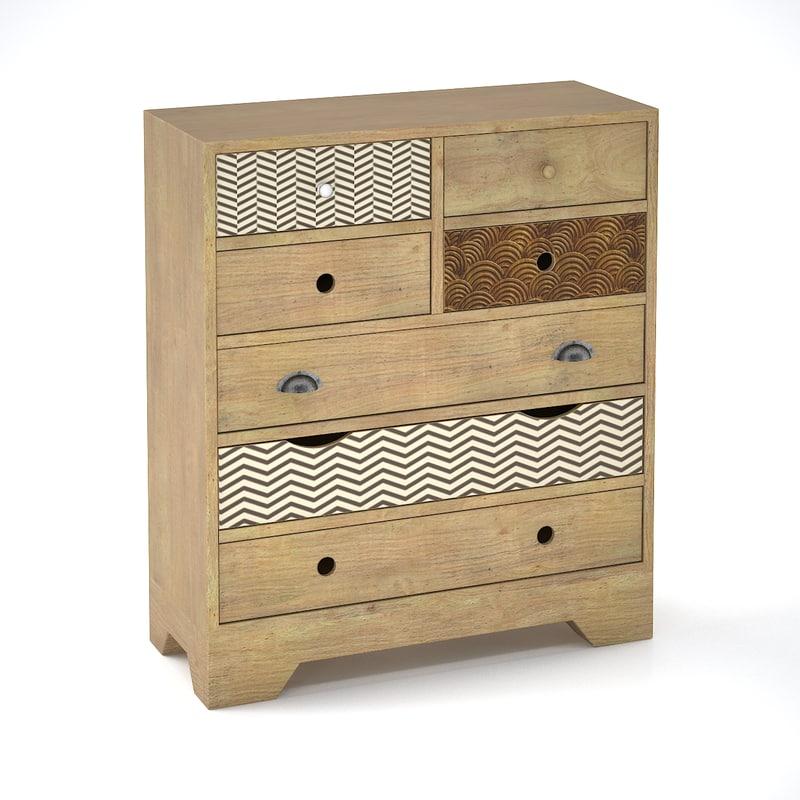 commode valgautr scandinavian style dxf. Black Bedroom Furniture Sets. Home Design Ideas