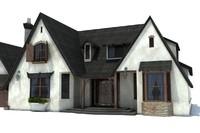 3d huge house modelled