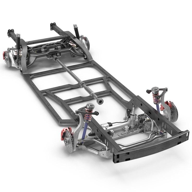 sedan chassis drivetrain 2 3ds