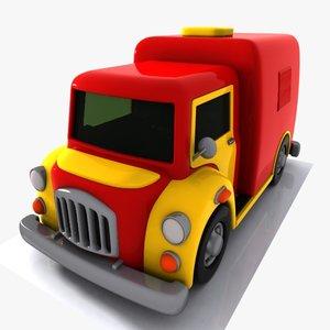 3dsmax cartoon truck toon
