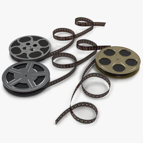 3d model video film reels 2