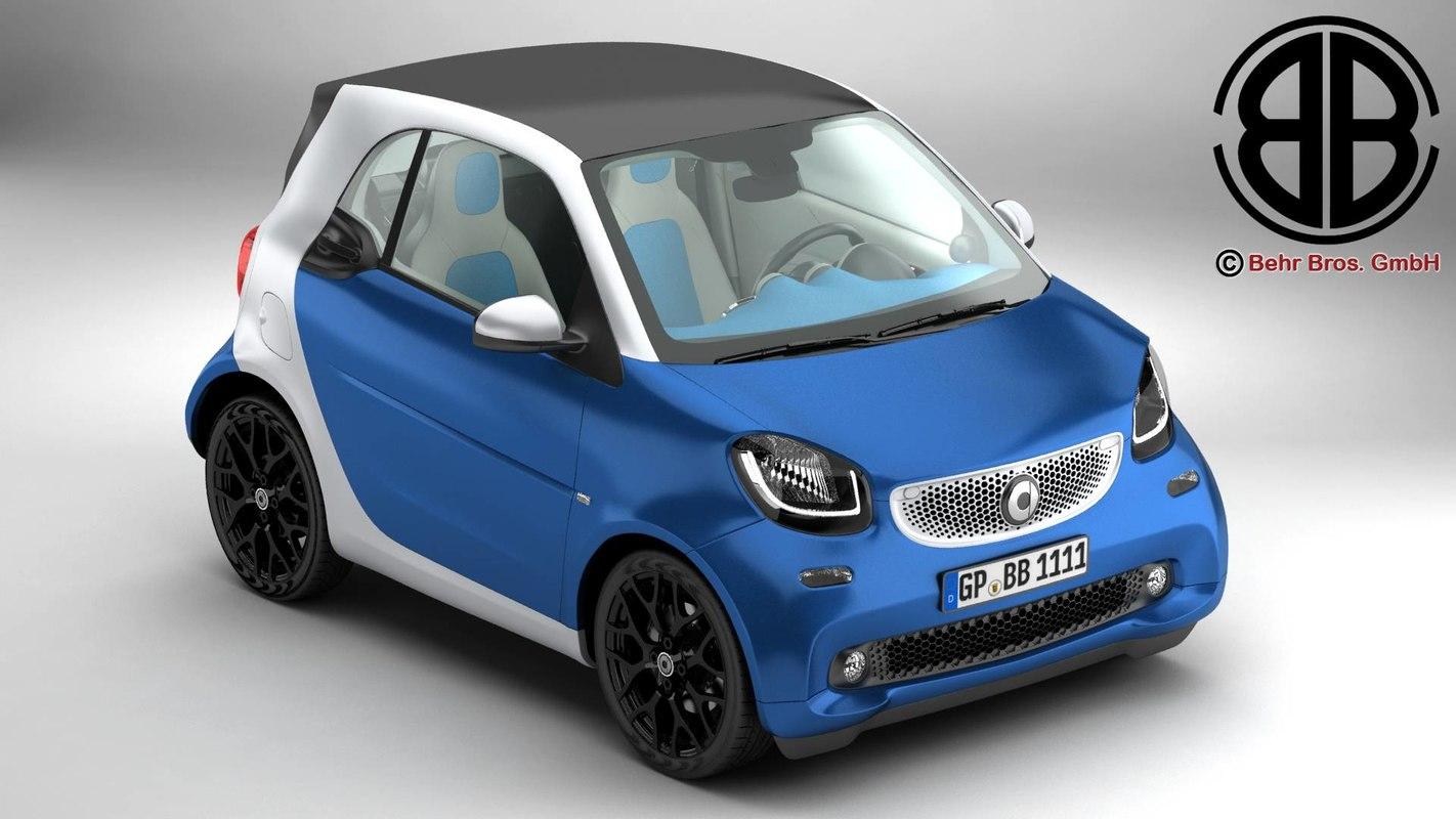 3d smart fortwo 2015 model