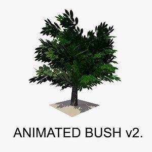 3d bush animations tree model