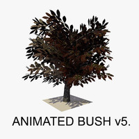 3d model bush animations tree