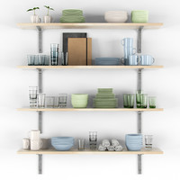 3ds max decorative shelves dishes
